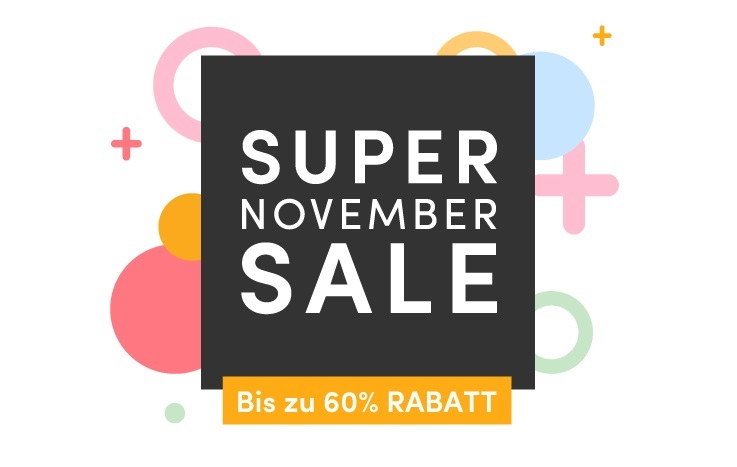 Super November Sale. Bis zu 60% Rabatt!